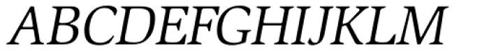 ITC Slimbach Book Italic Font UPPERCASE