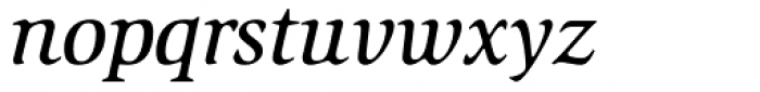 ITC Slimbach Medium Italic Font LOWERCASE