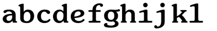 ITC Souvenir Monospaced Pro Bold Font LOWERCASE