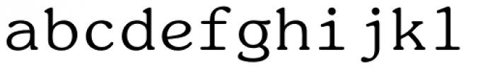 ITC Souvenir Monospaced Pro Regular Font LOWERCASE