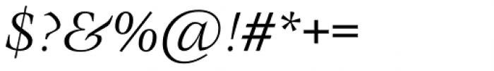 ITC Veljovic Book Italic Font OTHER CHARS