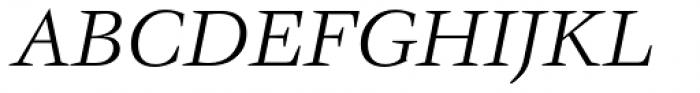 ITC Veljovic Book Italic Font UPPERCASE