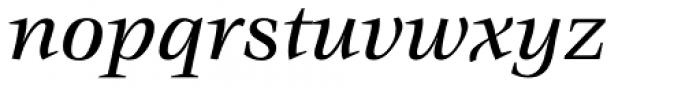 ITC Veljovic Medium Italic Font LOWERCASE