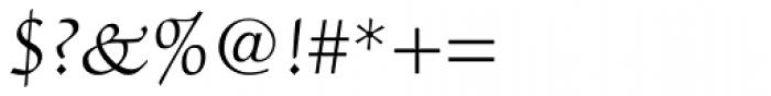 ITC Zapf Chancery Light Font OTHER CHARS