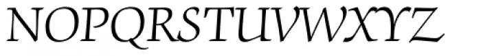 ITC Zapf Chancery Light Font UPPERCASE