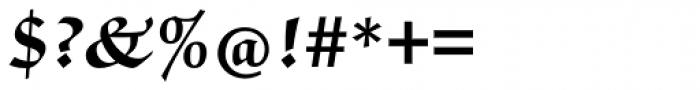 ITC Zapf Chancery Pro Bold Font OTHER CHARS