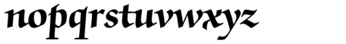 ITC Zapf Chancery Pro Bold Font LOWERCASE