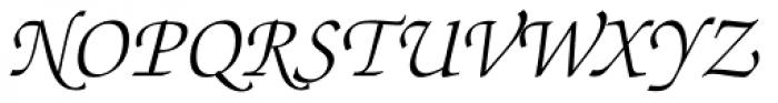 ITC Zapf Chancery Pro Light Italic Font UPPERCASE