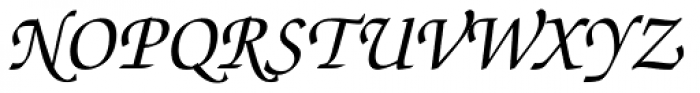 ITC Zapf Chancery Std Italic Font UPPERCASE