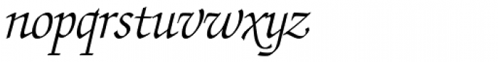 ITC Zapf Chancery Std Light Italic Font LOWERCASE
