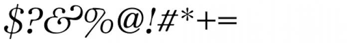 ITC Zapf International Std Light Italic Font OTHER CHARS