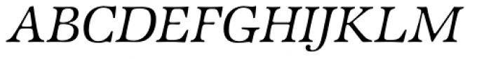 ITC Zapf International Std Light Italic Font UPPERCASE