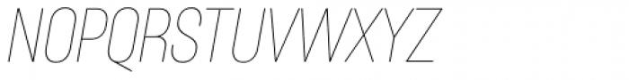 Itaca Condensed Thin Italic Font UPPERCASE