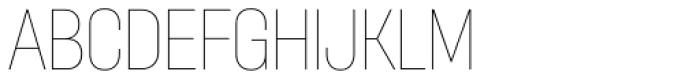 Itaca Condensed Thin Font UPPERCASE