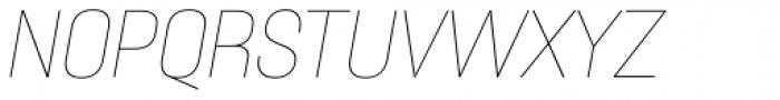 Itaca Thin Italic Font UPPERCASE
