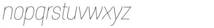 Itaca Thin Italic Font LOWERCASE