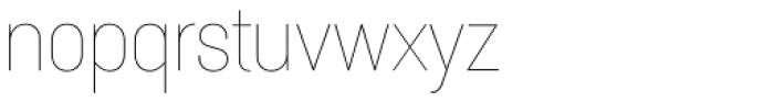 Itaca Thin Font LOWERCASE