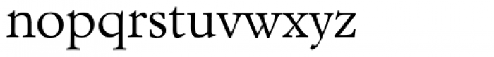 Italian Garamond Font LOWERCASE
