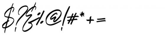 Italian Horskey Regular Font OTHER CHARS