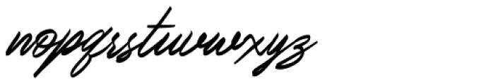 Italian Horskey Regular Font LOWERCASE