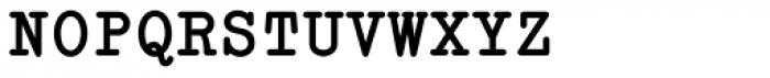 Italian Typewriter Bold Font UPPERCASE