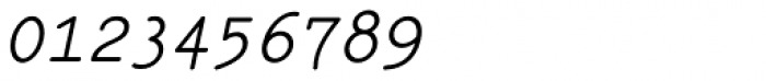 Italian Typewriter Italic Font OTHER CHARS