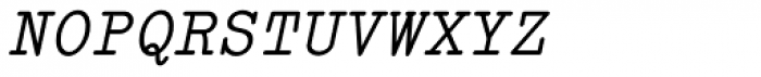 Italian Typewriter Italic Font UPPERCASE
