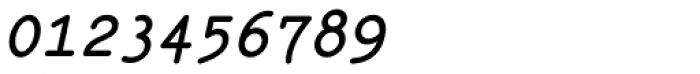 Italian Typewriter Slanted Bold Font OTHER CHARS