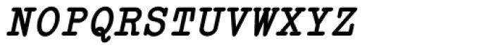 Italian Typewriter Slanted Bold Font UPPERCASE