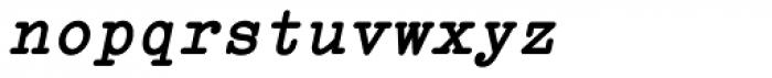Italian Typewriter Slanted Bold Font LOWERCASE