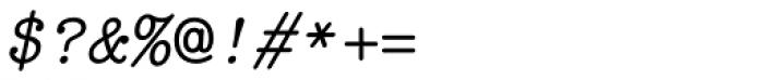 Italian Typewriter Unicode Italic Font OTHER CHARS