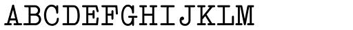 Italian Typewriter Unicode Font UPPERCASE