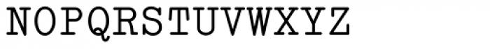 Italian Typewriter Font UPPERCASE