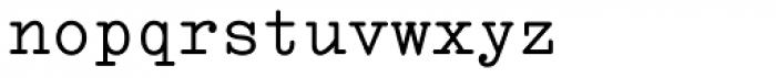 Italian Typewriter Font LOWERCASE
