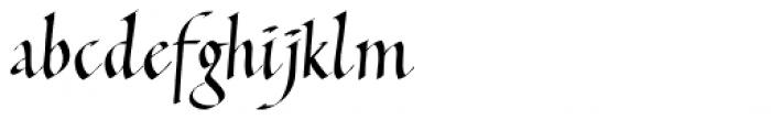 Italic Hand Font LOWERCASE
