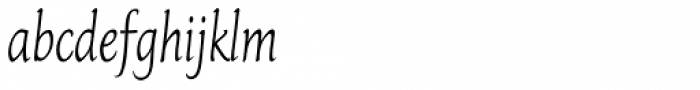 Italican Oblique Condensed Font LOWERCASE