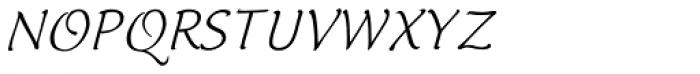Italican Script Font UPPERCASE