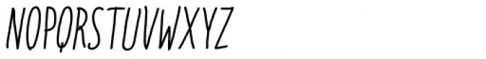 Italo Regular Italic Font UPPERCASE