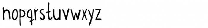 Itchy Handwriting Font LOWERCASE