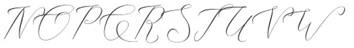 Ithalia script Regular Font UPPERCASE