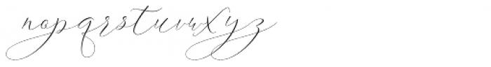 Ithalia script Regular Font LOWERCASE