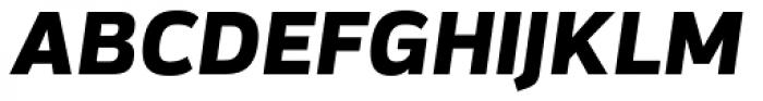 Itoya Extra Bold Italic Font UPPERCASE