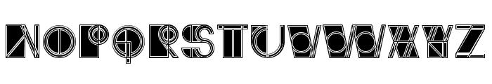 Ivan Linear Filled Regular Font UPPERCASE