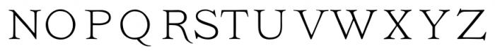 Ivory No Swashes Font UPPERCASE