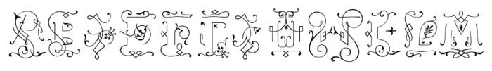 Ivory Swashes Font UPPERCASE