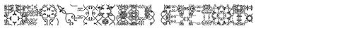Ivy Tiles Fill Font UPPERCASE