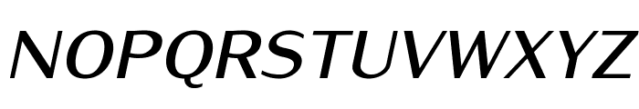 Iwona-BoldItalic Font UPPERCASE