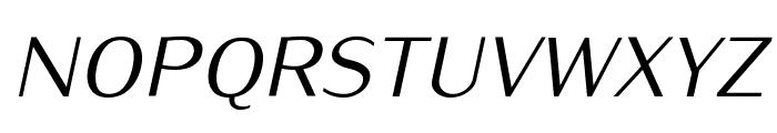 Iwona-Italic Font UPPERCASE