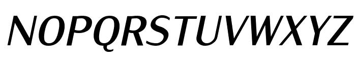 IwonaCond-BoldItalic Font UPPERCASE