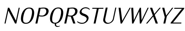 IwonaCond-Italic Font UPPERCASE